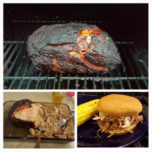 Pork blade roast, slow smoked to porktastic perfection.