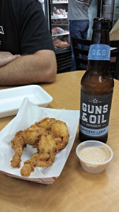 Fried frog legs and a col' beer, now that's what I'm talking about!